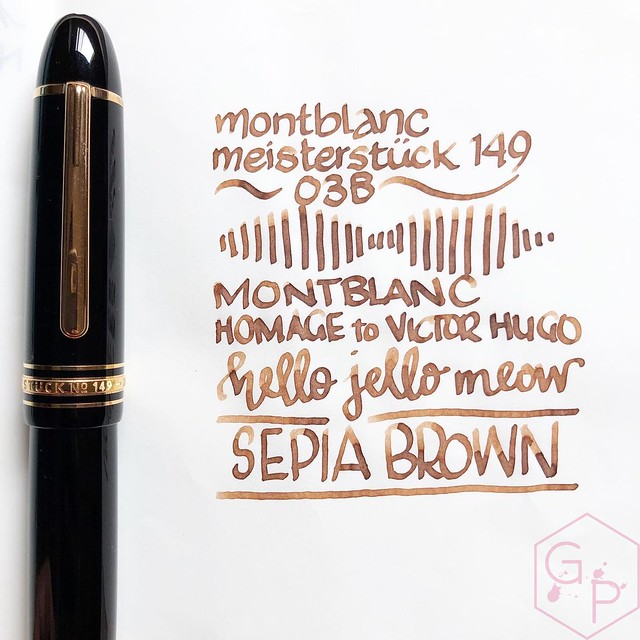万宝龙向Victor Hugo Sepia Brown Ink 4致敬