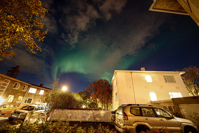 A little display of Auroras in Reykjavik