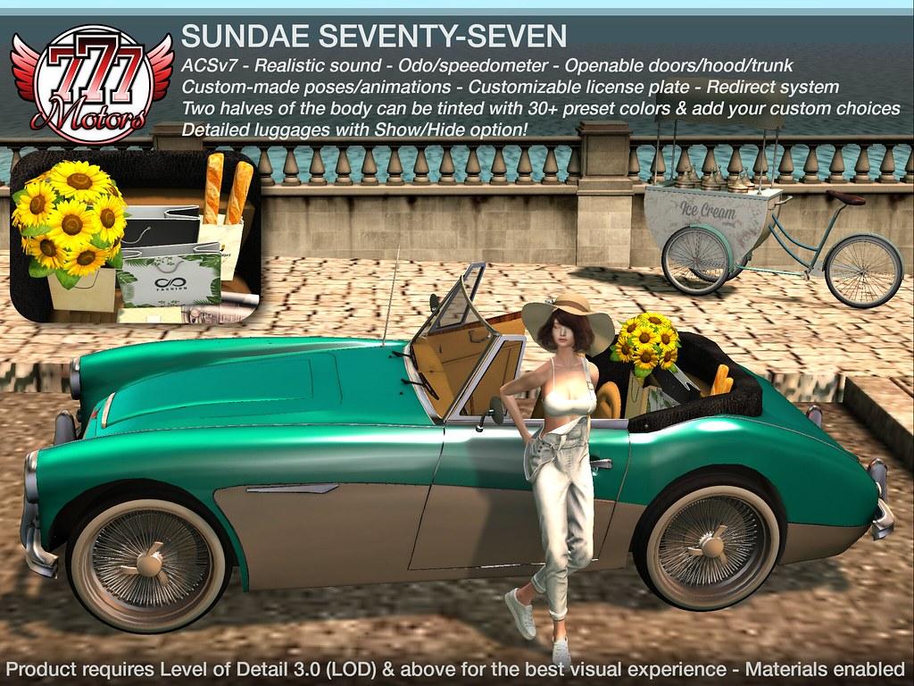 [777] Sundae77 Vintage Car