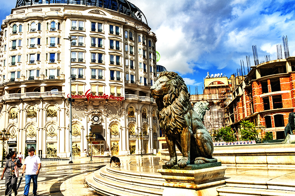 Macedonia Square on  9-26-20--Skopje