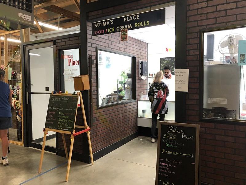 Milton Flea Market - Rockys World & fatimas Thai rolled ice cream