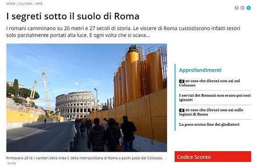 ROMA ARCHEOLOGICA & RESTAURO ARCHITETTURA 2020. I segreti sotto il suolo di Roma - I romani camminano su 20 metri e 27 secoli di storia. FOCUS (21/03/2020). Foto: Comune di Roma (09/2020). S.v., L'Espresso (31/03/2011): 68-71 [in PDF].