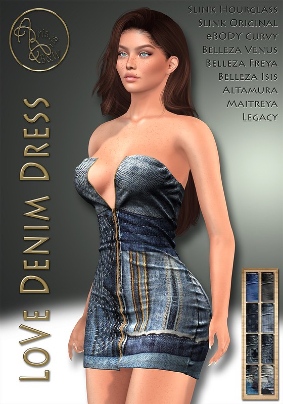 ArisArisB&W~AlCo13~LoVe Denim Dress~VENDOR