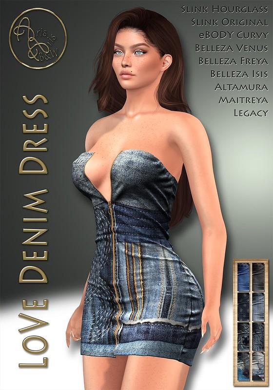 ArisArisB&W~AlCo13~LoVe Denim Dress~VENDOR