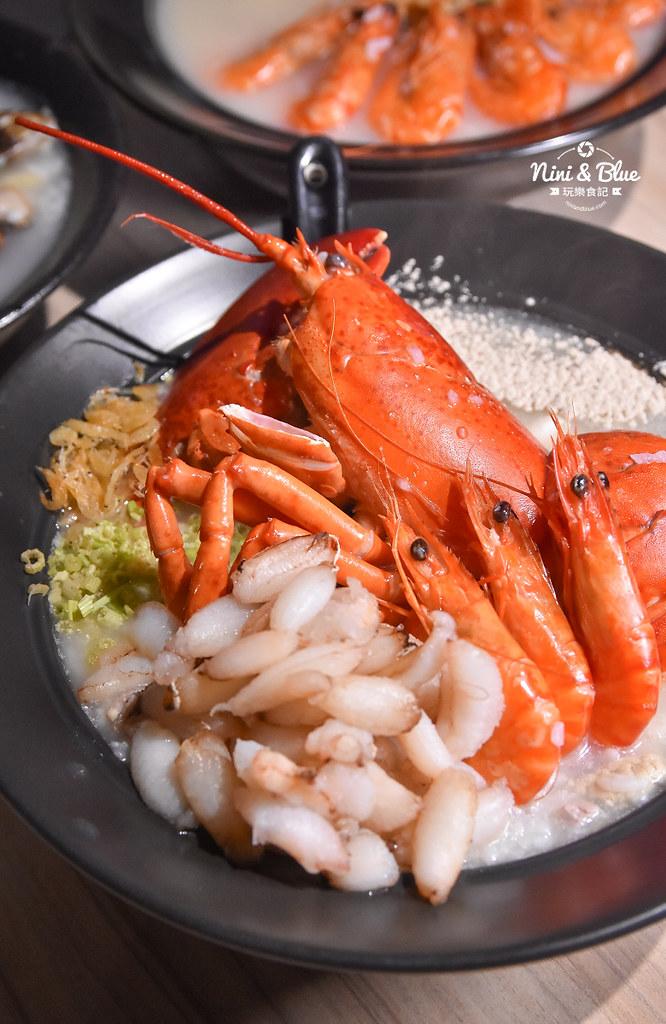 台中海鮮粥 粥堂 龍蝦 螃蟹 蟹管肉 麻油雞 09