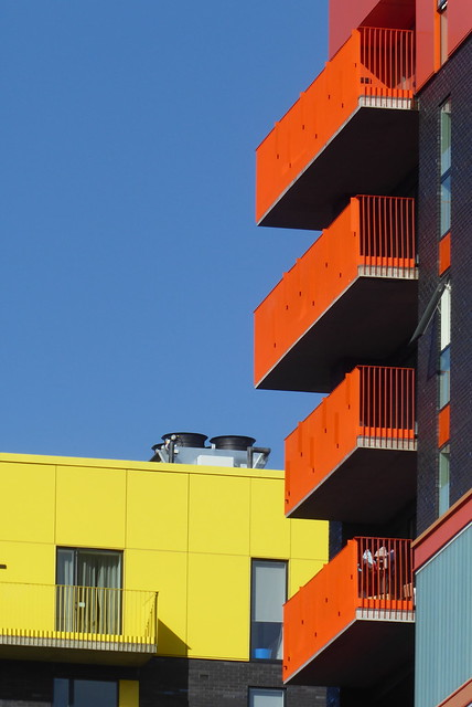 Balconies, Isle of Dogs, London