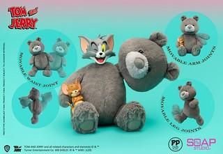 Soap Studio 新系列將推出內置骨架的《湯姆貓與傑利鼠》絨毛玩偶!