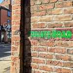 'Private Road' sign on Friargate, Preston