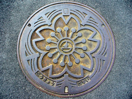 Nawa Tottori, manhole cover (鳥取県名和町のマンホール)