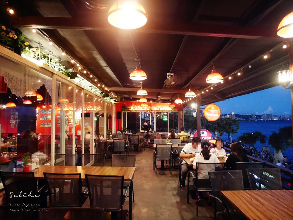 新北淡水不限時景觀餐廳咖啡廳推薦紅色穀倉看夕陽日落平價cp值高約會情人節老街美食 (1)