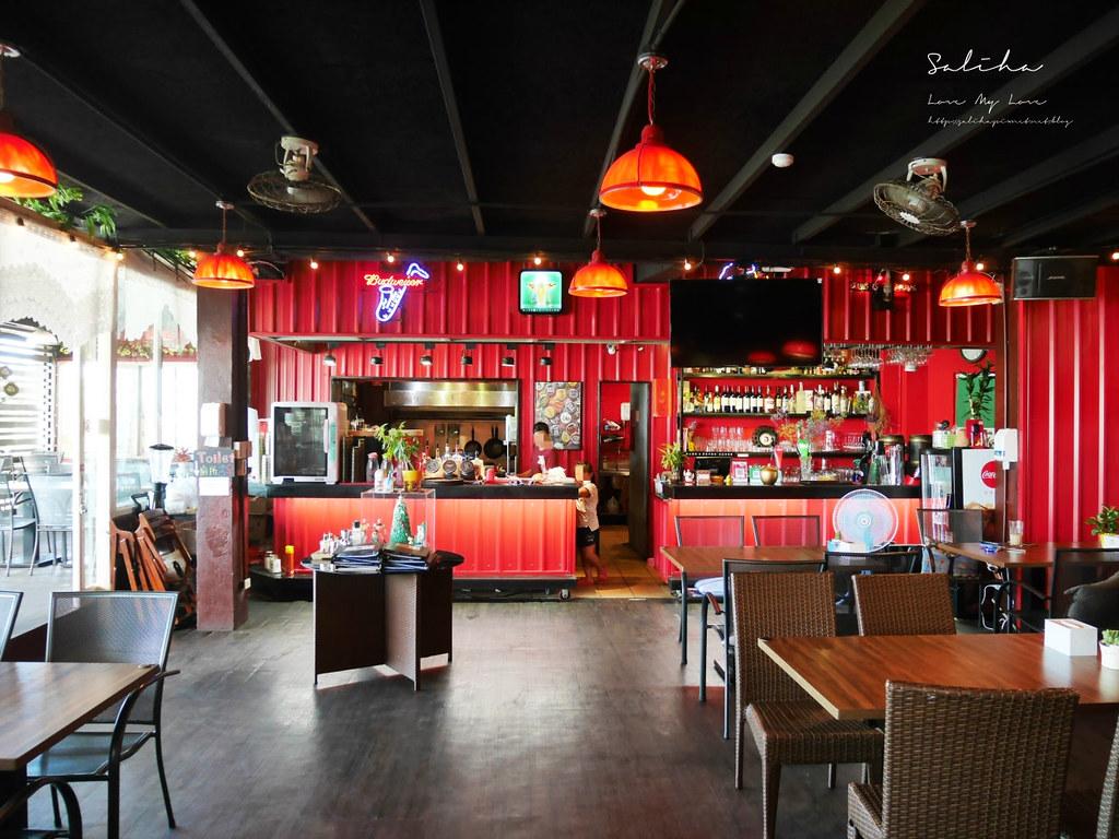 淡水老街美式餐廳漢堡好吃美食推薦紅色穀倉不限時景觀餐廳可久坐看夕陽 (3)