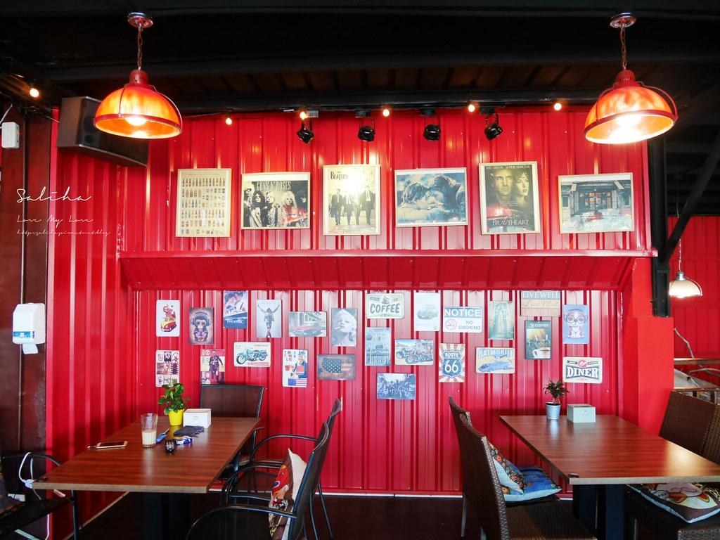 淡水老街美式餐廳漢堡好吃美食推薦紅色穀倉不限時景觀餐廳可久坐看夕陽 (1)