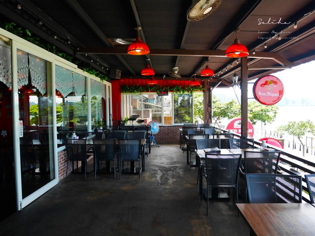 淡水老街不貴景觀餐廳一日遊平價選擇推薦紅色穀倉有素食不限用餐時間氣氛好 (1)