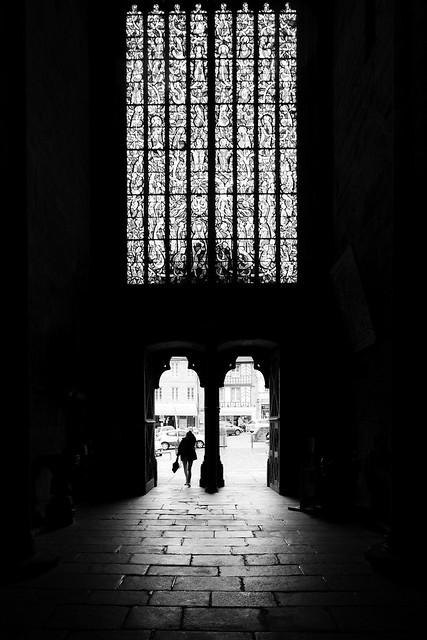 Entering in a church