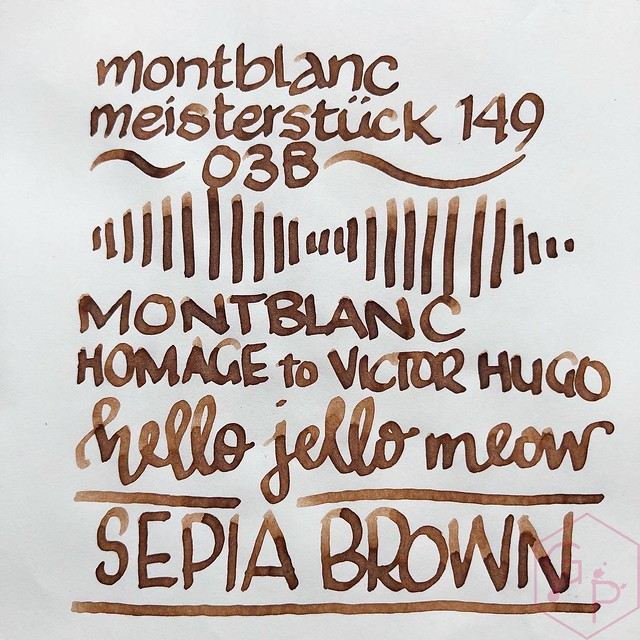 Montblanc Homage to Victor Hugo Sepia Brown Ink 6