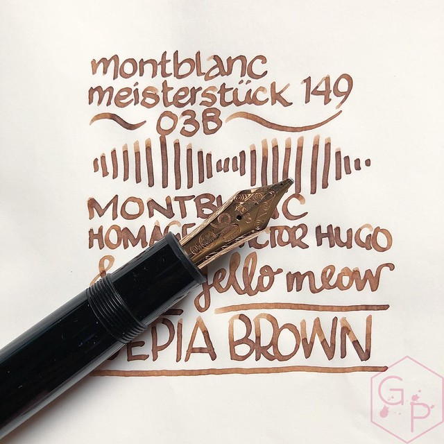 Montblanc Homage to Victor Hugo Sepia Brown Ink 5