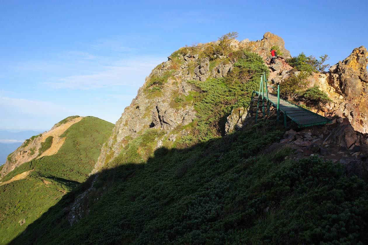 天狗岳の岩場