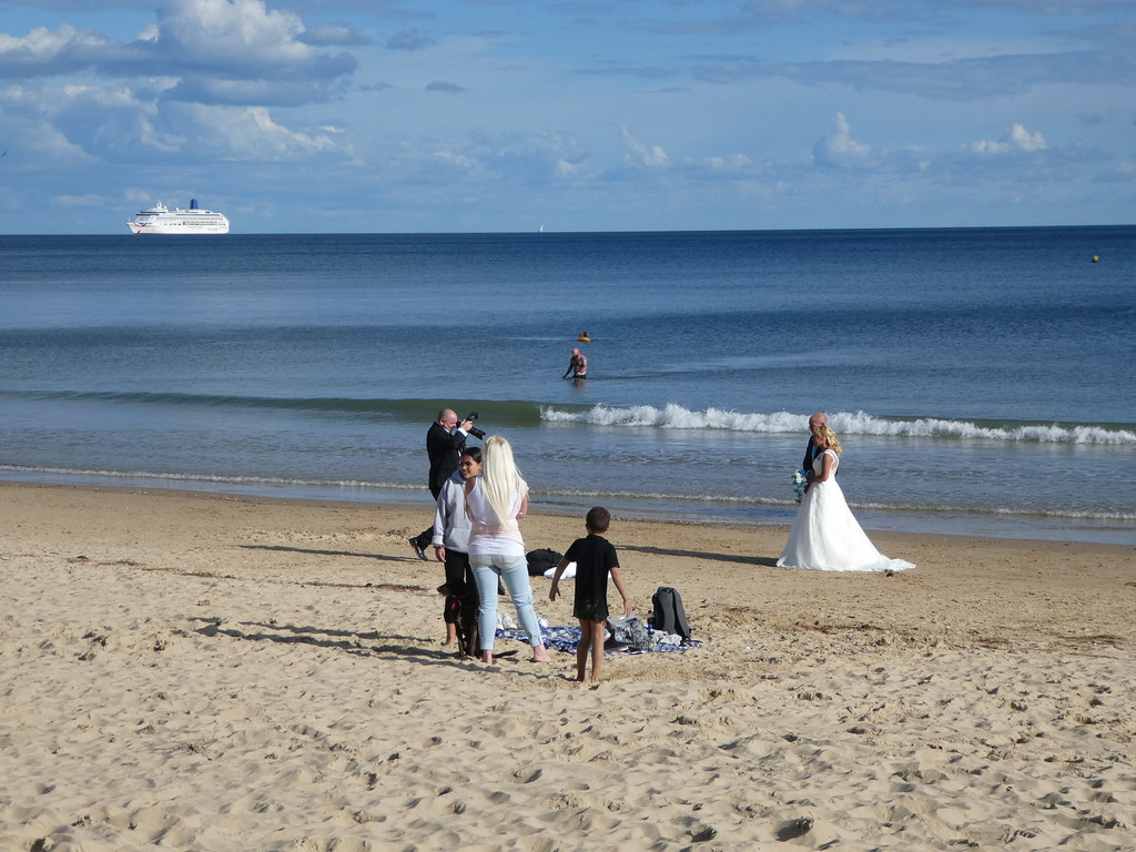 Bridal shoot, Bournemouth beach