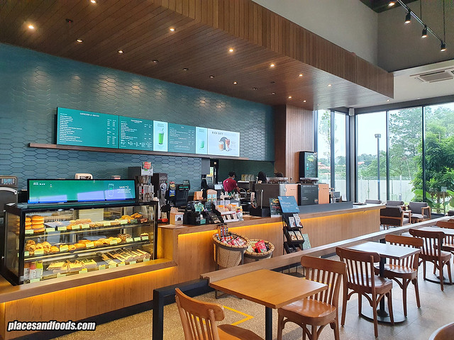 starbucks jade hills inside counter