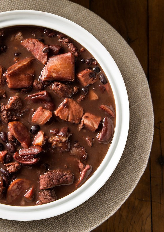 Feijoada - A slow cooked dish of meat and black beans. Put a taste of Brazil on the table.
