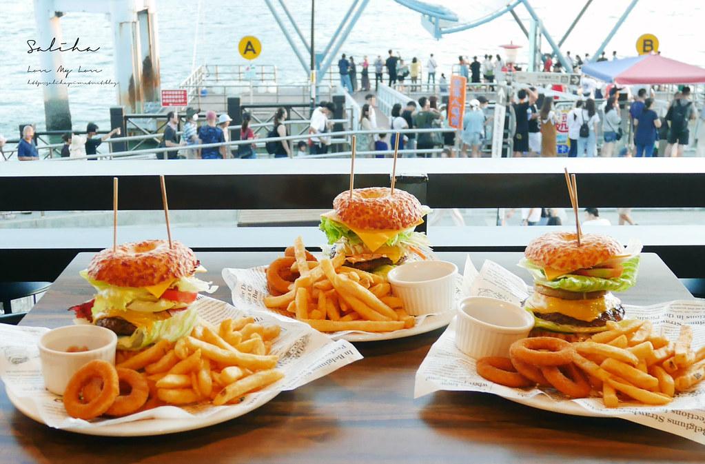新北淡水老街景觀餐廳推薦紅色穀倉 看夕陽不限用餐時間好吃漢堡排餐披薩 (1)