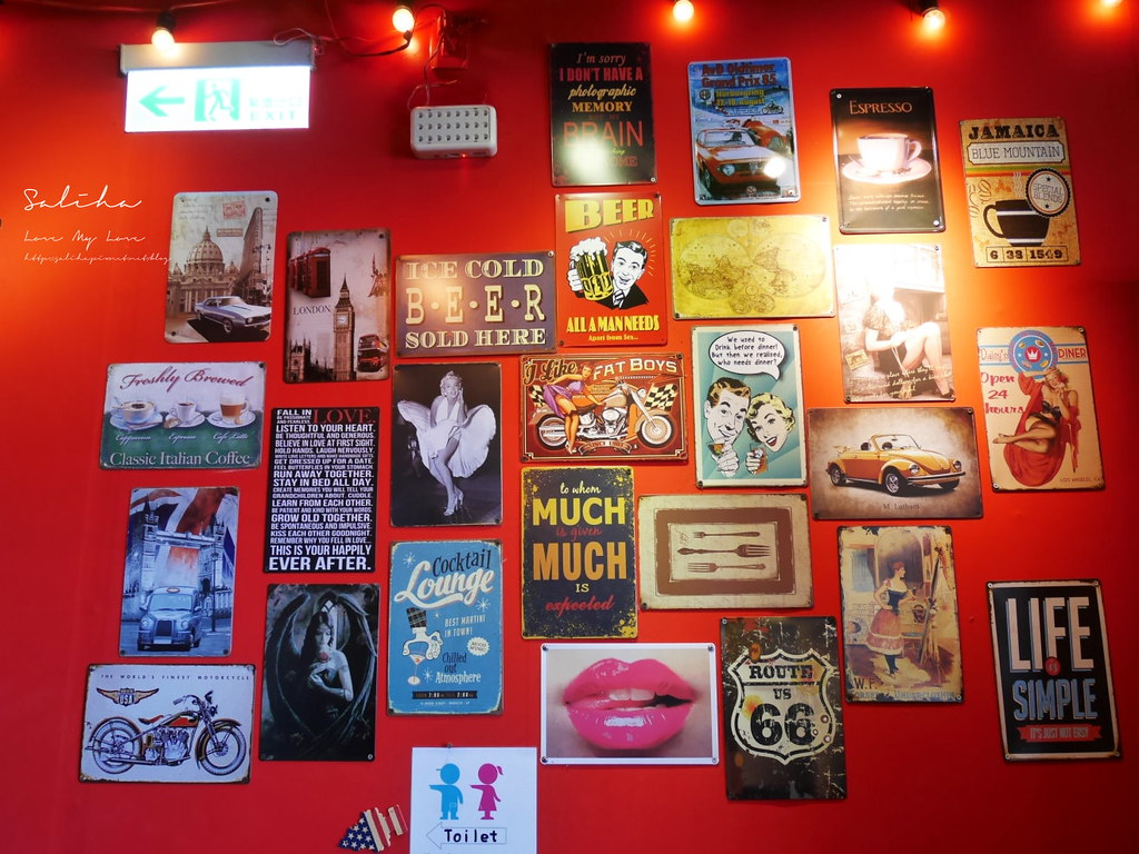 淡水老街美式餐廳漢堡好吃美食推薦紅色穀倉不限時景觀餐廳可久坐看夕陽 (2)