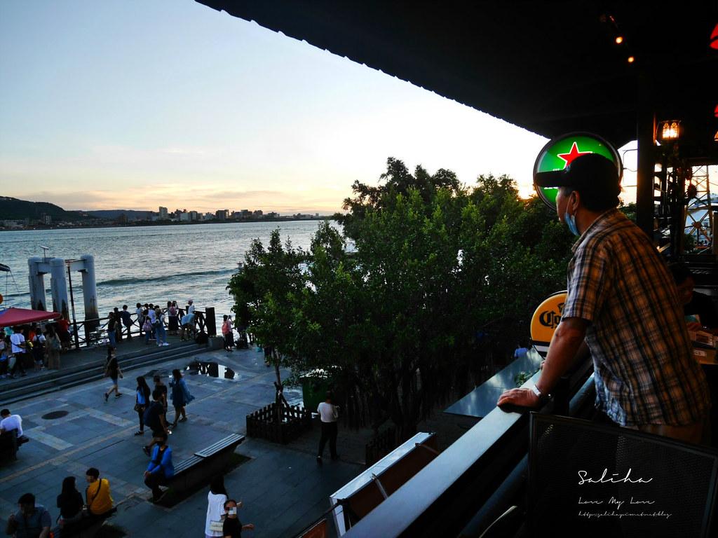 淡水老街一日遊餐廳行程美食推薦紅色穀倉景觀餐廳可看夕陽落日淡水河景 (4)