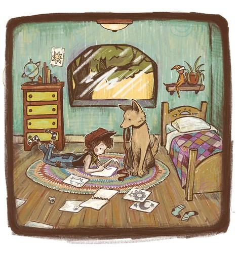 storybook page. From Artist Spotlight: Kat VanderWeele, LimningHouse Illustration