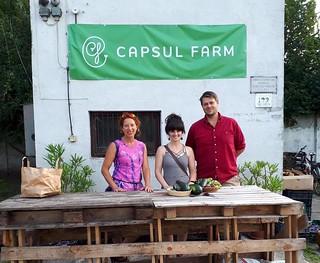 Capsulfarm városi kertészkedés séta