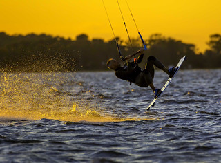 Kiteboarder at Assateague by Kevin Moore | by Maryland DNR