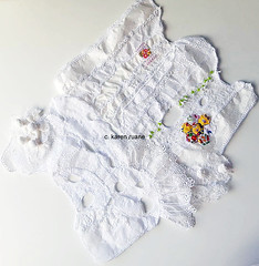 embroidery on white, lace cloth