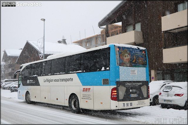 Mercedes-Benz Tourismo – SAT Annemasse (Société Annemassienne de Transports) / Auvergne-Rhône-Alpes n°317