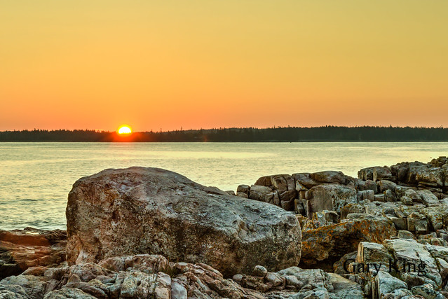 Sunrise over Great Cranberry Island