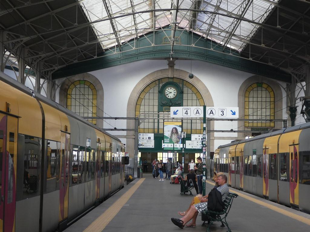 Sao Bento Station platform Porto