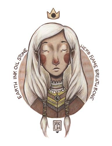 earth queen. From Artist Spotlight: Kat VanderWeele, LimningHouse Illustration