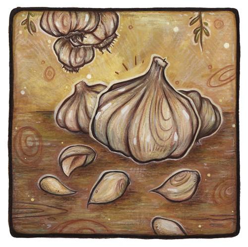 garlic. From Artist Spotlight: Kat VanderWeele, LimningHouse Illustration