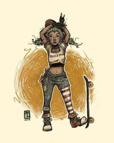 misfit. From Artist Spotlight: Kat VanderWeele, LimningHouse Illustration