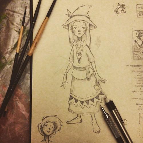 pencil sketch. From Artist Spotlight: Kat VanderWeele, LimningHouse Illustration