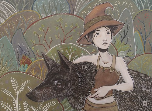 wolf spirit. From Artist Spotlight: Kat VanderWeele, LimningHouse Illustration