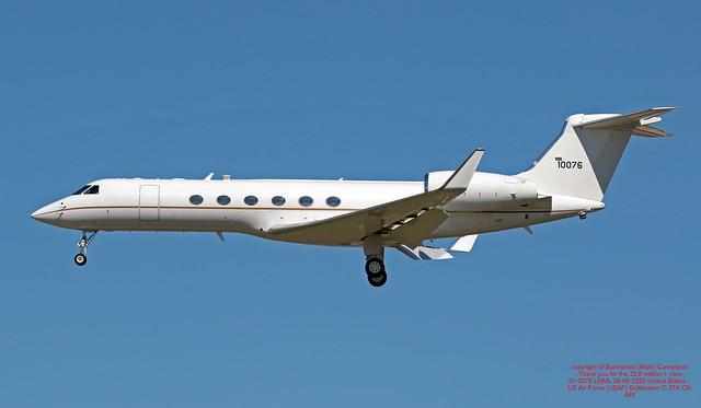 01-0076 LMML 29-09-2020 United States - US Air Force (USAF) Gulfstream C-37A CN 645
