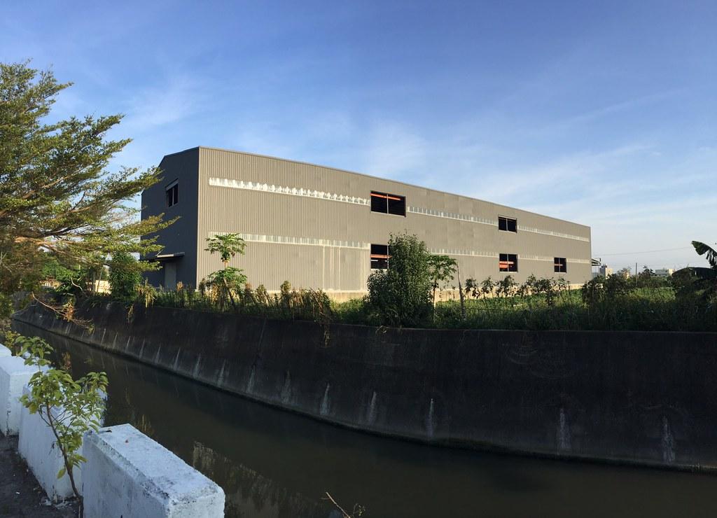 20200901民眾回報彰化縣秀水鄉埔崙段新增違章工廠。圖片提供:地球公民基金會。