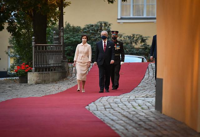 29.09.2020. V. E. Francijas Republikas prezidenta Emanuela Makrona (H. E. Emmanuel Macron) un kundzes Brižitas Makronas (Brigitte Macron) oficiālā vizīte  Latvijā