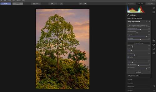 Screenshot of Sky Replacement Settings in Luminar 4
