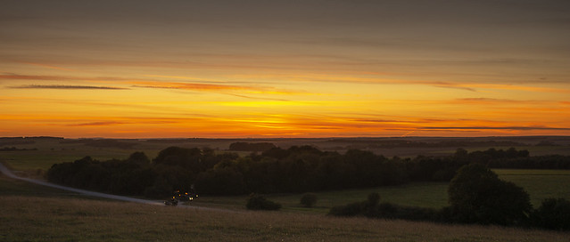 Sunset with Manoeuvres