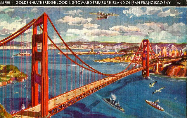1939 Golden Gate International Exposition At San Francisco - The Golden Gate Bridge Looking Toward Treasure Island, The H.S. Crocker Company