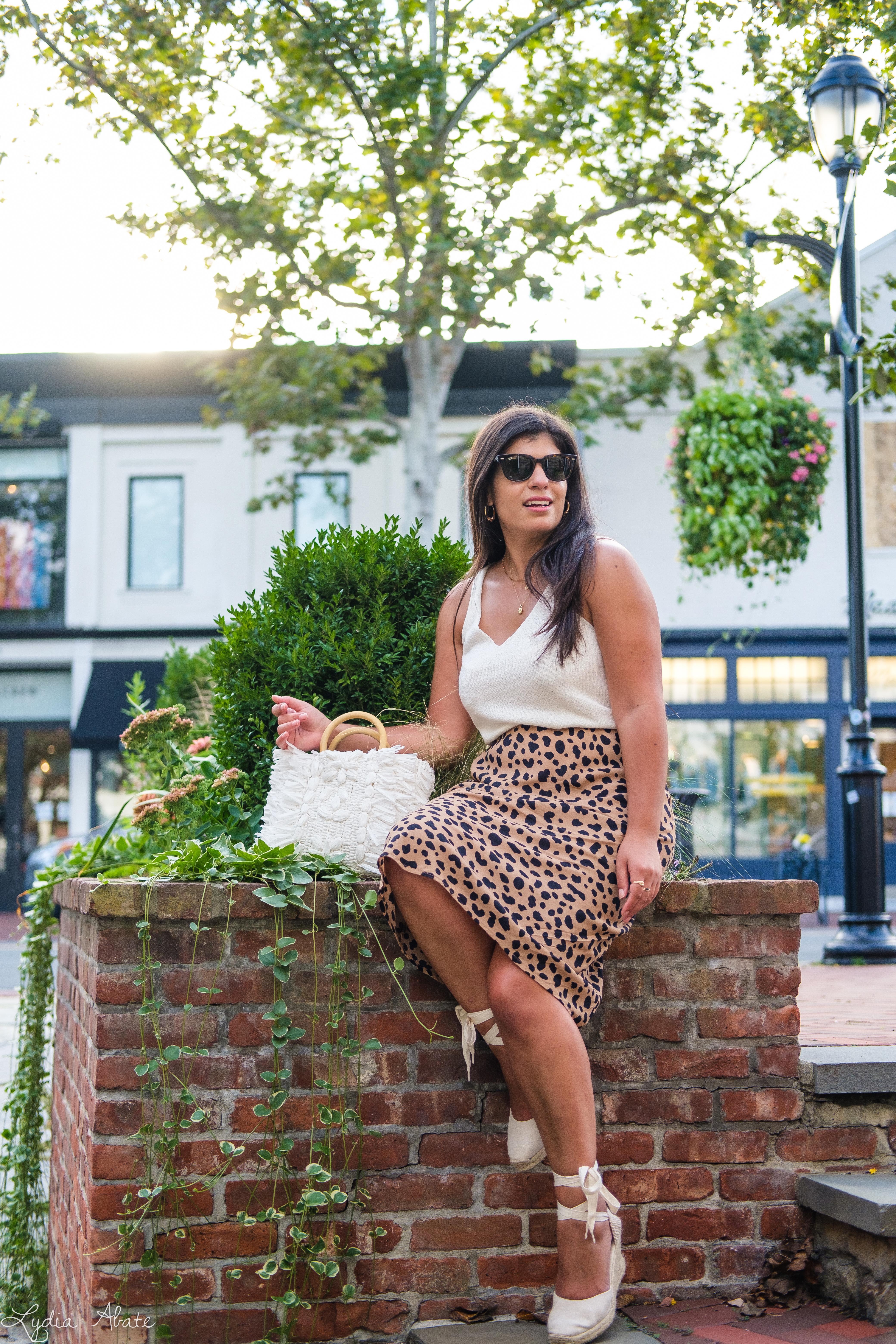 leopard midi skirt, white knit tank, raffia bag, espadrilles-13.jpg