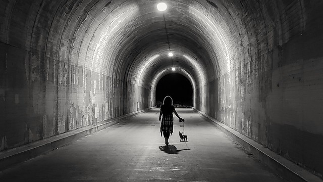 A walk to the edge of darkness