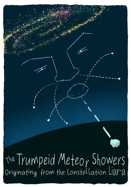 Trumpeid Meteor Showers emanating from the Constellation Liar-a