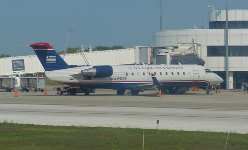 ROC Greater Rochester International Airport US Airways Express CRJ-200 N241PS 2012 September