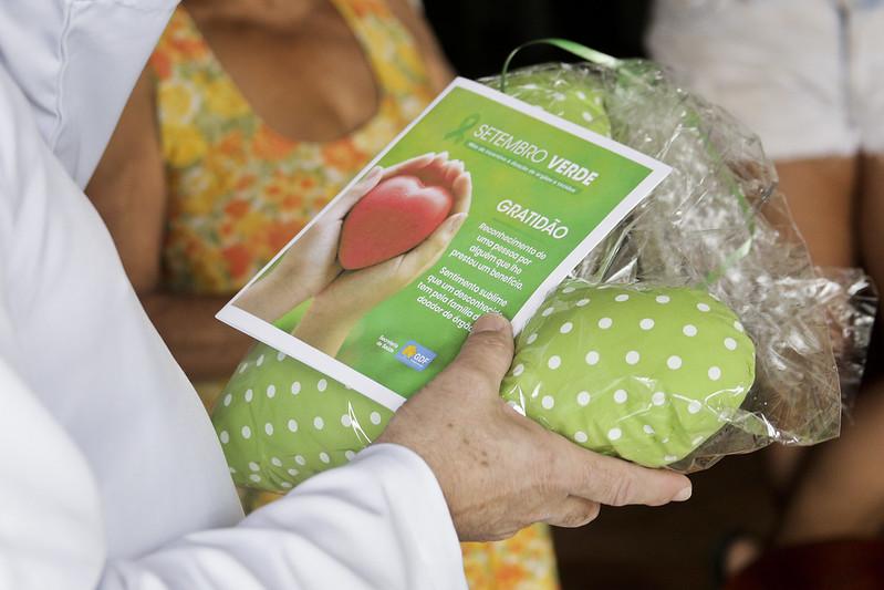 Famílias de doadores recebem homenagens pelo Dia Nacional do Doador de Órgãos